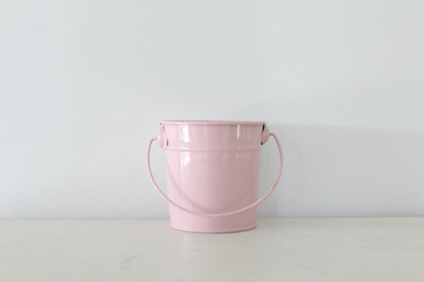 Mini Baby Pink Steel Buckets | Pop Roc Parties