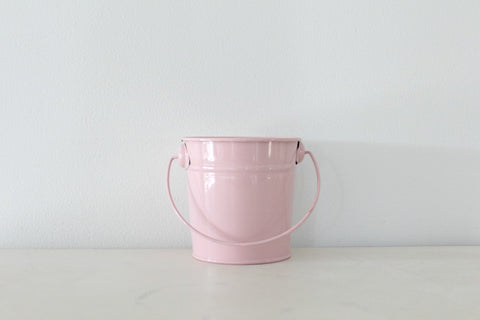 Mini Baby Pink Steel Buckets
