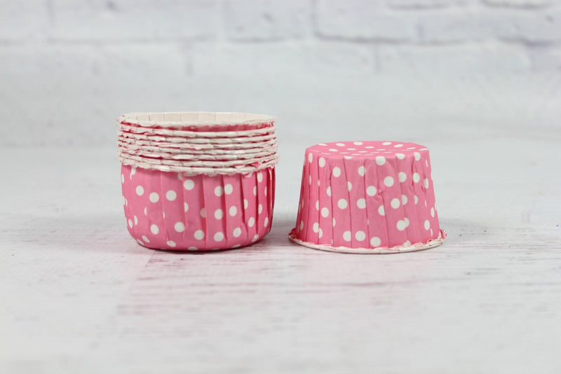 Pink Polka Dot Cupcake Cups - Pop Roc Parties