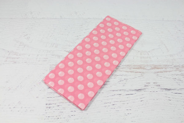 Pink Polka Dot Tissue Paper - Pop Roc Parties