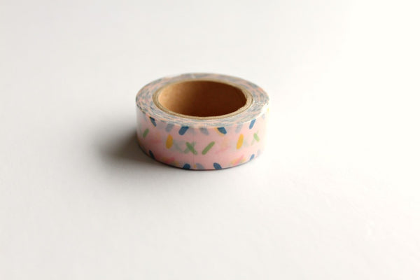 Pink Sprinkles Washi Tape - Pop Roc Parties