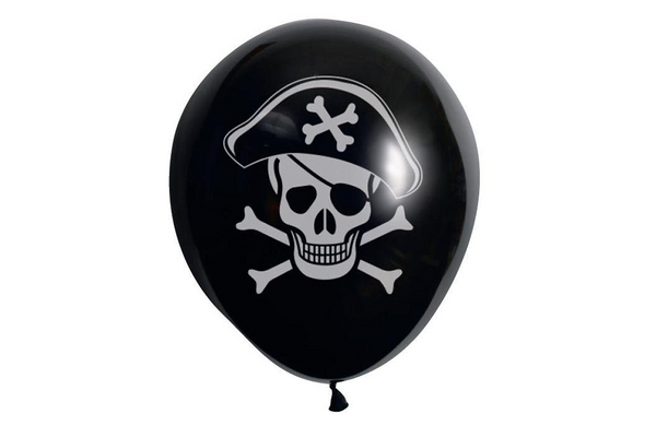 Pirate Skull & Crossbones Balloons | Pop Roc Parties