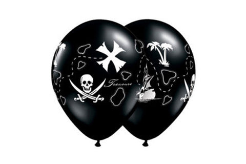 Black Pirate Map Balloons