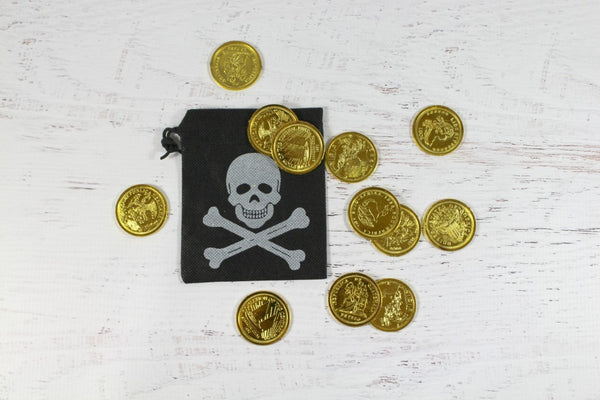 Pirate Pouch & Coins - Pop Roc Parties