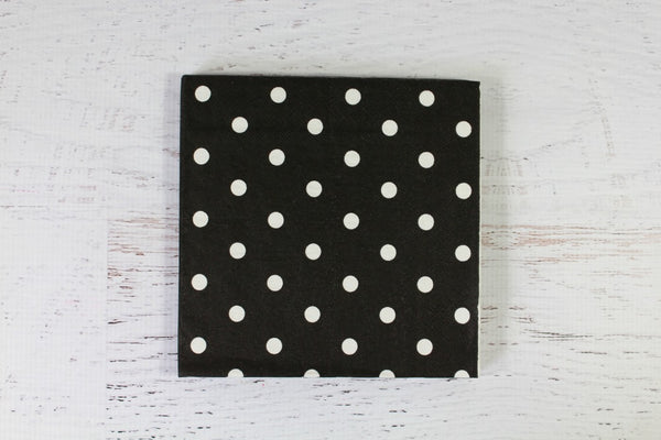 Black Spotty Napkins | Pop Roc Parties