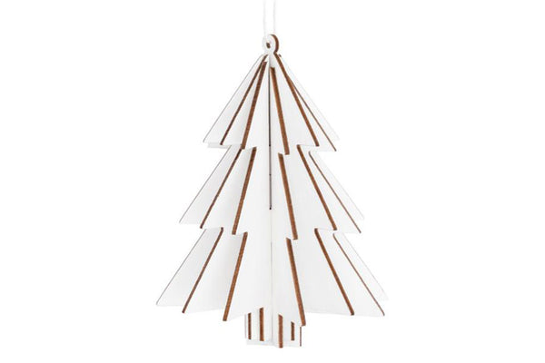 White Wooden 3D Tree Hanging Decoration | Pop Roc Parties