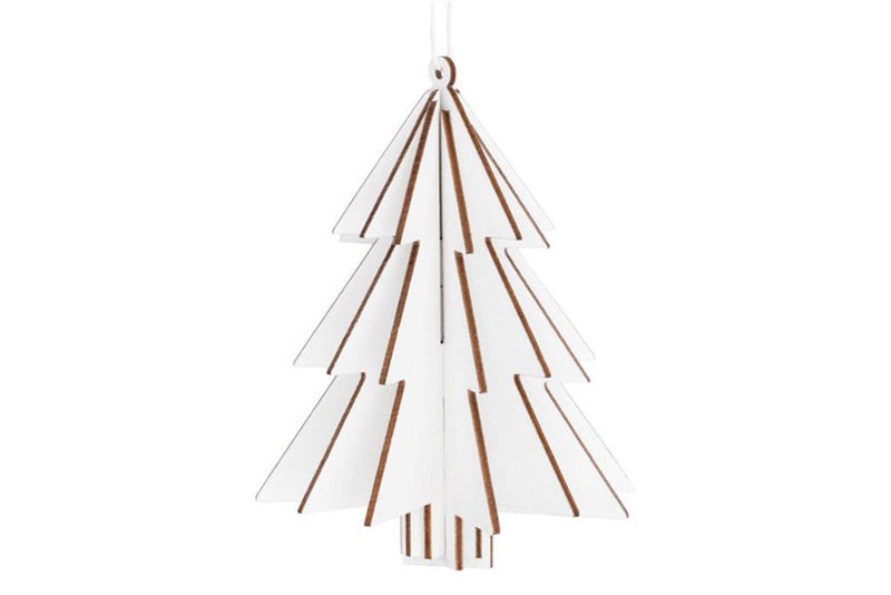 White Wooden 3D Tree Hanging Decoration - Pop Roc Parties