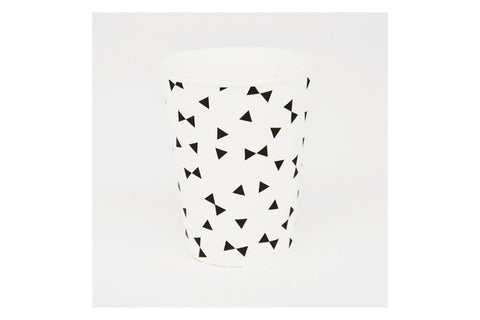 Black Bow Tie Paper Cups