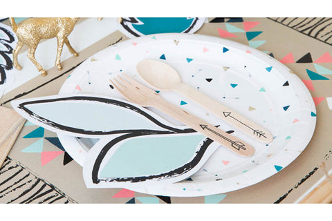Modern Camp Party Plates - Last Pack Left!