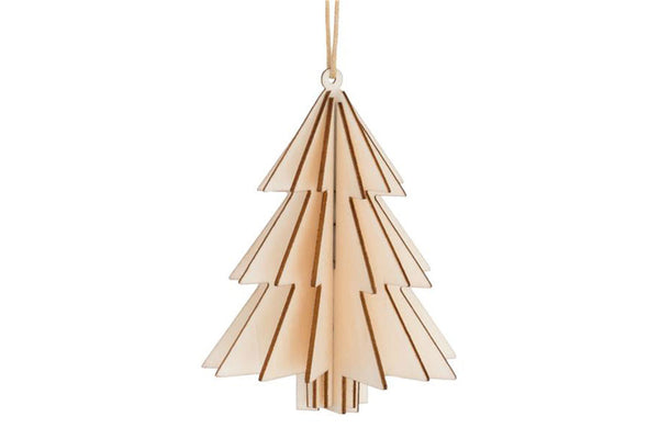 Natural Wooden 3D Tree Hanging Decoration - Pop Roc Parties