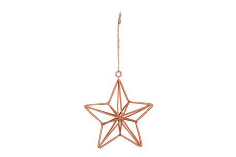 Hanging Copper Geometric Star Decoration