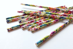Bright Floral Paper Straws - Pop Roc Parties