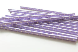 Lavender Solid Sweet Spotted Paper Straws | Pop Roc Parties