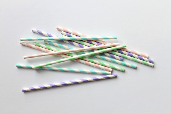Pastel Stripe Straw Mix | Pop Roc Parties