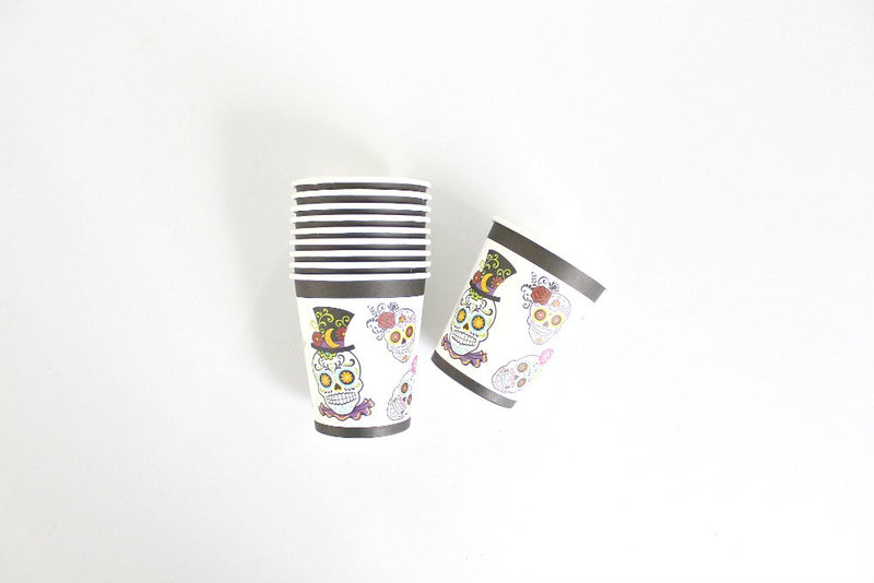 Sugar Skull Paper Cups - Pop Roc Parties
