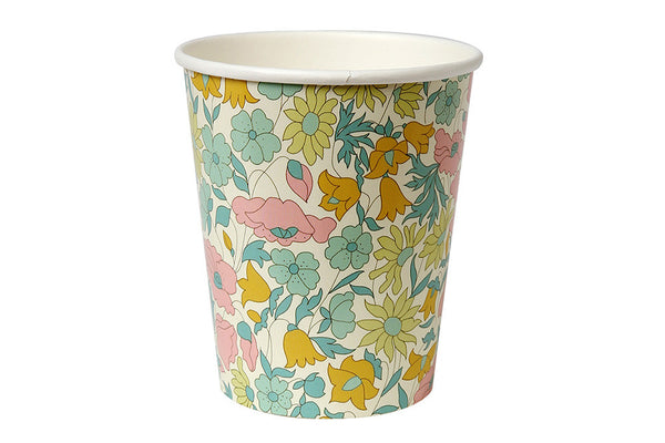 Poppy & Daisy Floral Party Cups - Pop Roc Parties