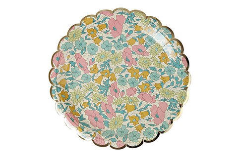 Poppy & Daisy Floral Party Plates