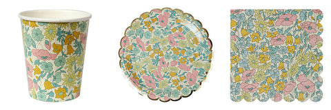 Poppy & Daisy Floral Party Plates - Pop Roc Parties