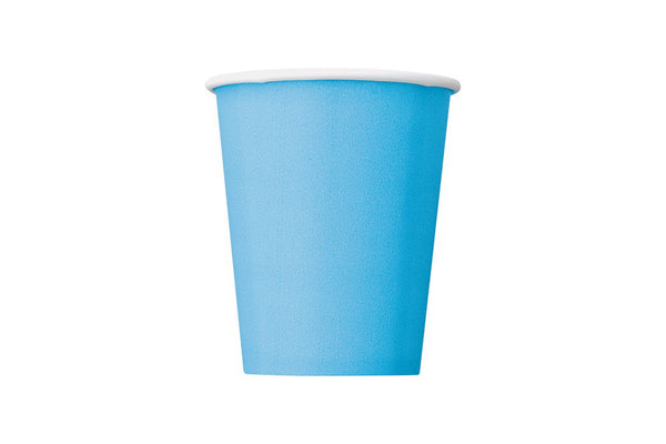 Powder Blue Paper Cups - Pop Roc Parties