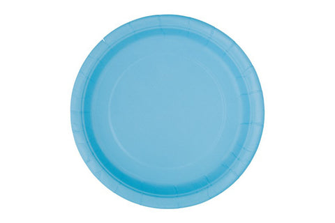 Powder Blue Small Paper Plates
