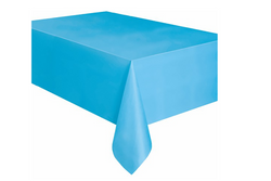 Powder Blue Plastic Table Cover | Pop Roc Parties