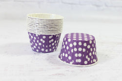 Purple Polka Dot Cupcake Cups - Pop Roc Parties