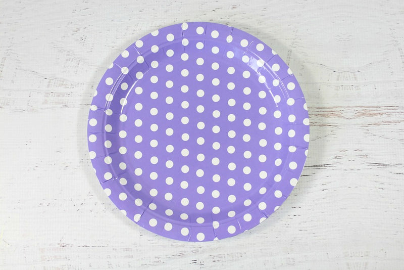 Purple Polka Dot Paper Plates | Pop Roc Parties