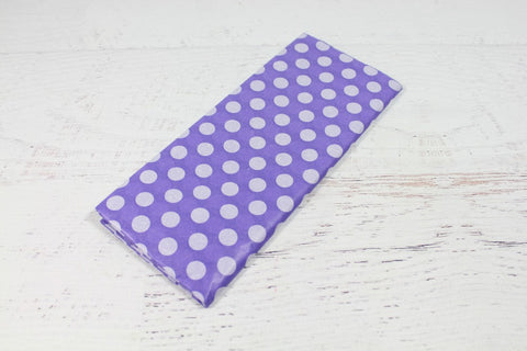 Purple Polka Dot Tissue Paper