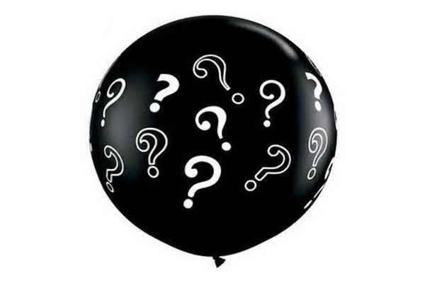 Black Question Mark Jumbo Balloons - Pop Roc Parties