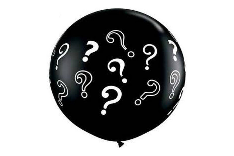 Black Question Mark Jumbo Balloons | Pop Roc Parties