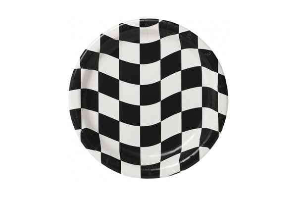 Racing Checkered Plates | Pop Roc Parties