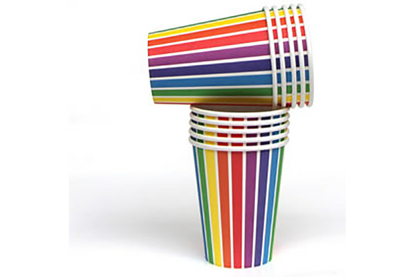 Rainbow Party Cups - Pop Roc Parties