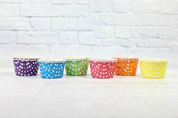 Rainbow Polka Dot Cupcake Set - Pop Roc Parties