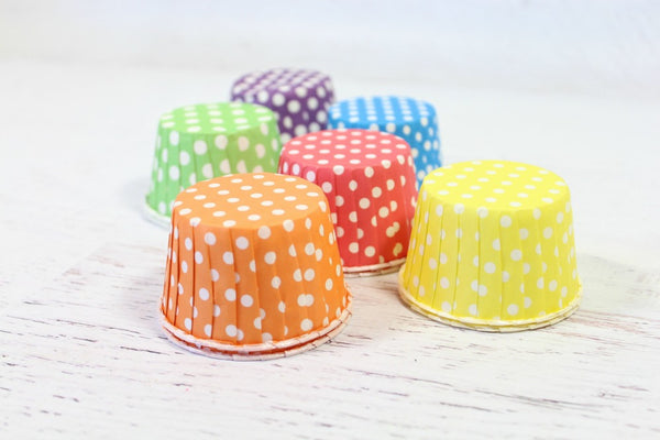 Rainbow Polka Dot Cupcake Set | Pop Roc Parties
