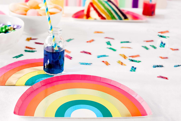 Birthday Brights Rainbow Plates | Pop Roc Parties