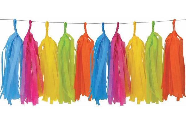 Rainbow Tassel Garland | Pop Roc Parties