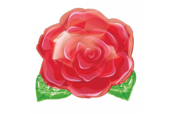 Red Rose Foil Balloon - Pop Roc Parties