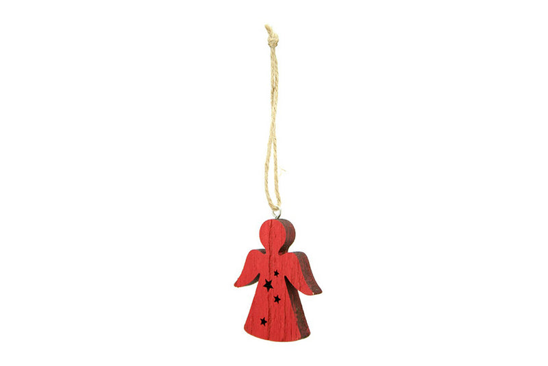 Red Wooden Angel Decoration | Pop Roc Parties
