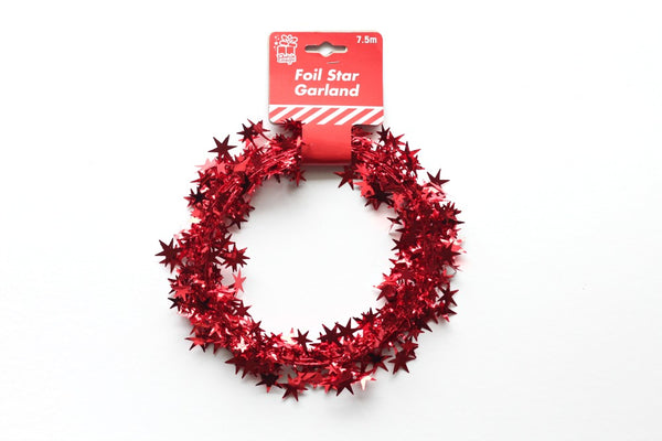 Red Star Wire Garland - Pop Roc Parties