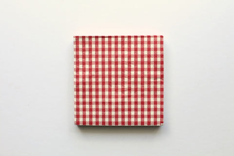 Red Gingham Paper Napkins