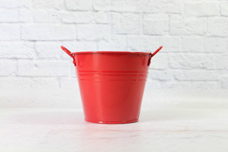 Red Steel Pail | Pop Roc Parties