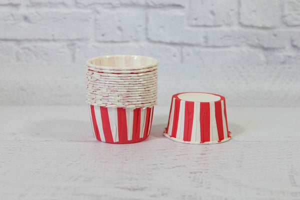 Red Stripe Cupcake Cups | Pop Roc Parties