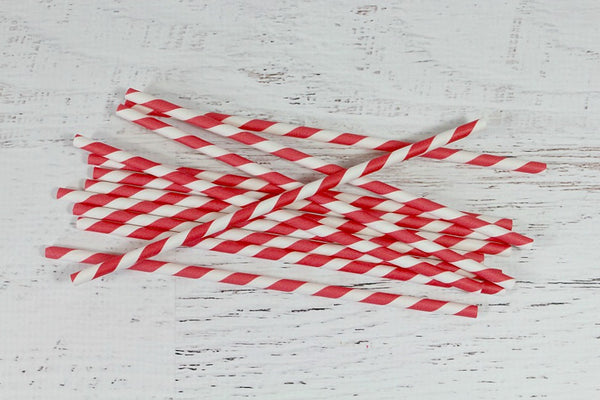 Red Stripe Paper Straws | Pop Roc Parties