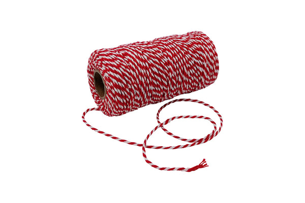 Red & White 12 Ply Twine | Pop Roc Parties