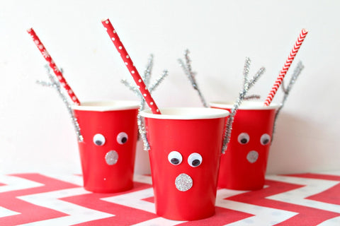 Red Paper Cups - Pop Roc Parties