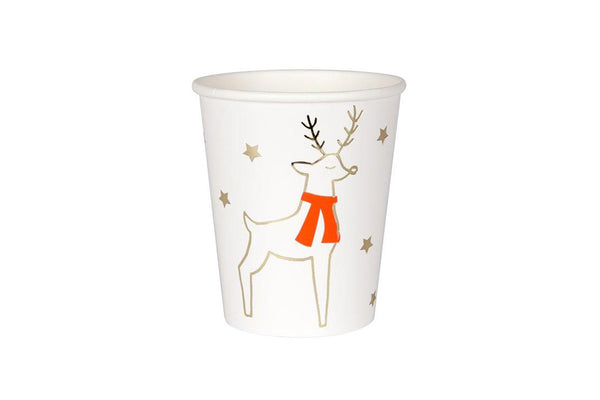 Meri Meri Reindeer & Stars Party Cups | Pop Roc Parties