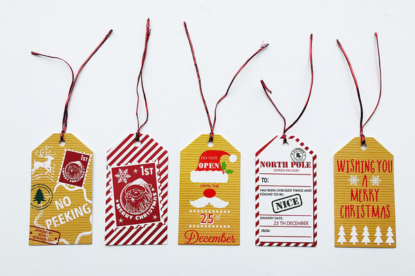 Retro Christmas Gift Tags | Pop Roc Parties