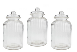 Retro Glass Lolly Jars (Med) - HIRE
