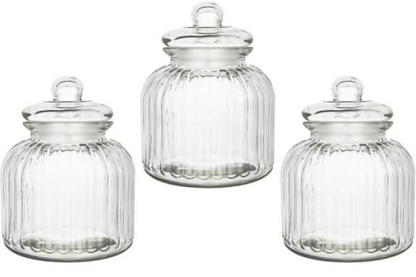 Retro Glass Lolly Jars (XL) - HIRE