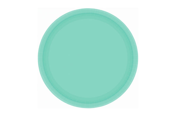 Robin's Egg Blue Small Paper Plates | Pop Roc Parties